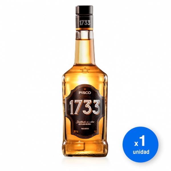 Botella de Pisco chileno 1733 Especial 35° 750 cc al mejor precio de Santa Rita
