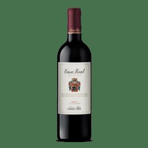 Vino Merlot Casa Real 🥇 Escudo de Familia Gran Reserva 750 cc x 12 de Santa Rita